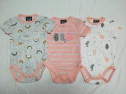 Cotton Interlock Baby Clothing Baby Bodysuit 3PCS-pakket