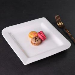 Hot Sale Plaques carrées dîner la vaisselle en porcelaine de la plaque d'événements de mariage
