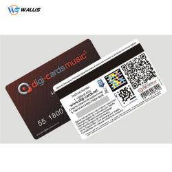 Commerce de gros fournisseur de codes à barres préimprimé en plastique PVC Carte Carte-cadeau prépayée