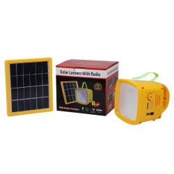 Lantern 디자인 및 충전 전화를 갖춘 휴대용 Solar 라디오