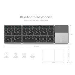 بالنسبة لجهاز iPad/PC BT Wireless الطي Mini Pocket Mini Touchpad الثالث لوحة مفاتيح Bluetooth قابلة للطي