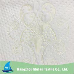 Tissu viscose polyester jacquard en tricot de polyester de gros / tissu de fibre de bambou
