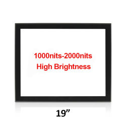 19인치 고휘도 1000nits 개방형 폐쇄 프레임 PCAP 멀티 터치 센서 실외용 LED 백라이트 LCD 자판기 셀프 서비스 문의 시스템