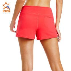 Custom Biker pantalones de gimnasia de la mujer sexy Boxer Shorts Yoga roja de alta calidad