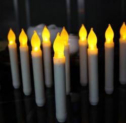 Kegelzapfen-Kerzen Hauptder dekoration-realer Wachs-Wellen-Rand-batteriebetriebene neue Flamme-LED