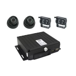 Sistema di sicurezza per auto portatili HD 720P 1080P a 4 canali con supporto audio 4 telecamere AHD 4G Mdvr per videosorveglianza per auto