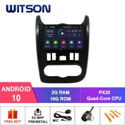 Renault 먼지떨이 2012 지원 외부 한덩어리 수신기를 위한 Witson 쿼드 코어 인조 인간 10 차 DVD GPS