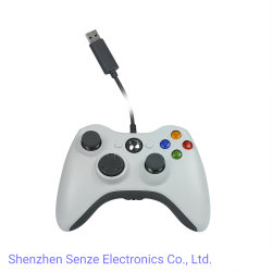 A cor branca com fio controlador de jogos para Xbox360/PC