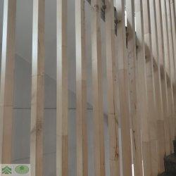 Настенный дисплей из древесного дерева с остями Slatwall