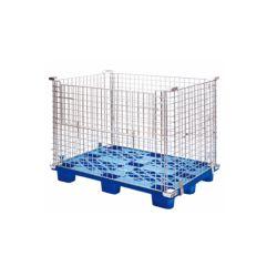 Fertigung-Lager-Geräte, Speicherstahlladeplatten-Rahmen-Maschendraht-Behälter