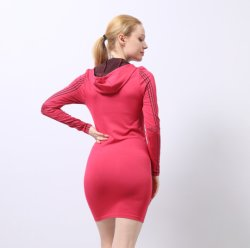Mesdames Unitard Transparent Body Sportswear Active Wear Manchon long avec le haut du capot