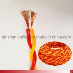 Cca-Draht-Leiter-flexibler verdrehter Draht 2core 0.75mm2 1.0mm2 1.5mm2 2.5mm2