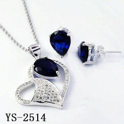 Commerce de gros d'usine 925 Sterling Silver Mode bijoux Set pour les femmes