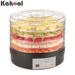 Essiccatore domestico elettrico nero rotondo di plastica della frutta del disidratatore dell'alimento dei 5 cassetti