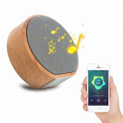 Лидер продаж среди 360 стерео раунда профессиональные портативные деревянные Bluetooth Mini беспроводной динамик для поощрения