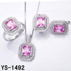 工場結婚式のためにセットされる卸し売り新しい方法925純銀製の宝石類CZ