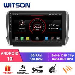 Witson 9'' Grande Ecrã aluguer de DVD GPS para Citroen 2008 208 2018 com o ecrã inicial