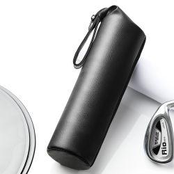 Housse de bouteille en cuir de pu noir tendance pour bouteille d'eau Sac