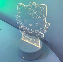 4mm de AcrylVertoning van de Dikte met ABS Plastic LEIDENE van de Rechthoek Lichte Basis voor Festivallen en Showcase