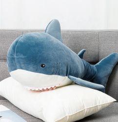 赤ん坊のギフトのかわいいクジラのスリープの状態である枕おもちゃの子供の動物の柔らかいヨシキリザメのおもちゃのための新式の海洋動物の鮫のプラシ天のおもちゃ