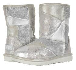 A junção de auditoria via sedex totalmente revestida de peles de couro impermeável botas de neve de lã de inverno