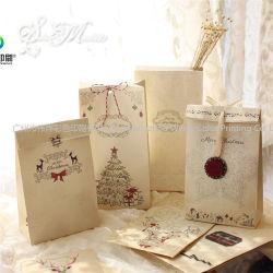 Impression d'ambiance rétro joli cadeau de Noël de cuisson Candy sac de papier