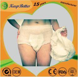 OEM de fournitures médicales de gros/ Custom Produits pour incontinence nocturne du jour au lendemain de protection jetables Adulte absorbant les sous-vêtements panty pantalon couches tirez vers le haut