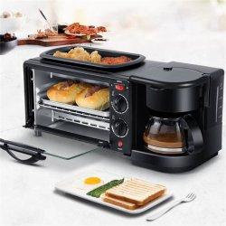 電気朝食トースターのコーヒー鍋が付いている自動多機能の電気パンのベーキングオーブンのフライパン