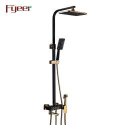 Fyeerの贅沢な黒は多機能の滑走のシャワーのコラムをBidetのスプレーヤーによってセットされて塗った