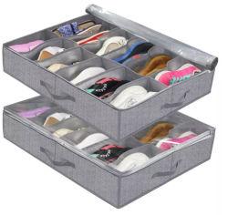 Tissu respirant Chaussures Underbed Non-Woven Boîte de rangement pour les chaussures et de quilt