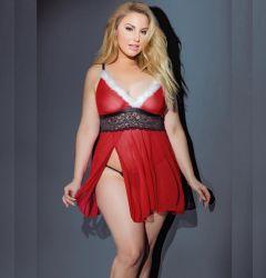 Natal Plus Size lingerie sexy