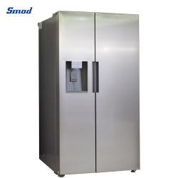 Side-by-side Tür-Frost-freier Gefriermaschine-Kühlraum mit Wasser-Zufuhr