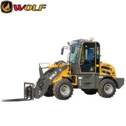 لودر Wolf 1,5 طن Zl15 ذو عجلات مع قاطع عشبي