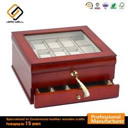 Contenitore di vigilanza di legno delle 15 scanalature con il caso di visualizzazione di chiave di catenaccio