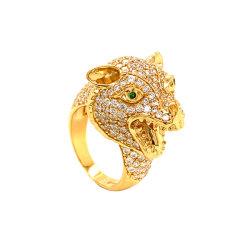 14K 18K joyería 10K/potencia de los hombres leopardo moda anillo