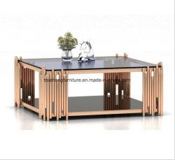 Meubles de salle de l'hôtel Table à café en acier inoxydable
