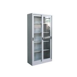 الأثاث المعدني المكتب التخزين أربعة رفوف الزجاج الباب المنزلق الصلب مجلس الوزراء
