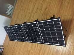 200W panel solar plegable plegable Bolsa plegable para acampar al aire libre