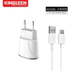 Teléfono móvil adaptable de carga rápida Kit cargador rápido de USB 2.0 (Pared cargador de viaje Inicio + Micro Cable USB).