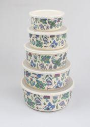 Grado Superior forma redonda de nivel 1 el bambú Contenedor de almacenamiento de alimentos