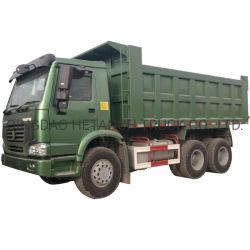 군용 품질 HOWO 6X4 덤프 트럭은 Tipper를 사용했습니다