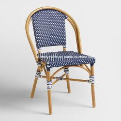 Patrón personalizado resistente francés de Rattan sintético Patio silla con patas Alumium
