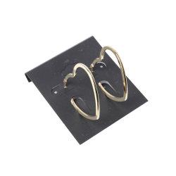 La moda de joyería de oro pendientes de forma de amor