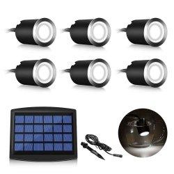 LED 솔라 데크 라이트 가든 풀 라이트 방수 스트링 라이트 실외 태양열 지하 조명