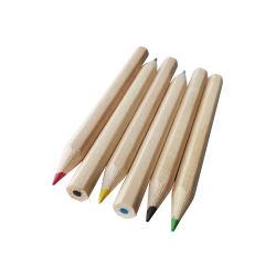 6 PCSの短く自然な木製のゴルフカラー鉛筆は子供のためにセットした