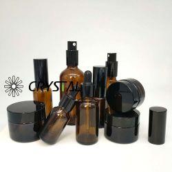 Druppel-type de Fles van het Glas van Broun voor de Olie van de Massage van de Essentiële Olie van de Olie van de Basis