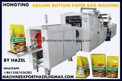 Esquema de Color 4 máquina de impresión Flexo coinciden con bolsa de papel que hace la máquina La máquina de bolsa de papel