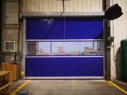 빨리 급속하게 작동을 구르는 산업 PVC 직물 고속 성과는 또는 음식 공장, 창고, 약제 청정실을%s 롤러 셔터 문 위로 구른다