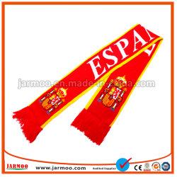 Conception personnalisée de gros de l'acrylique tricoté Écharpe de football du ventilateur de soccer