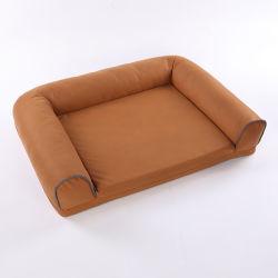 ブラウンすべてのサイズペットベッドの方法普及した犬のソファープロダクト